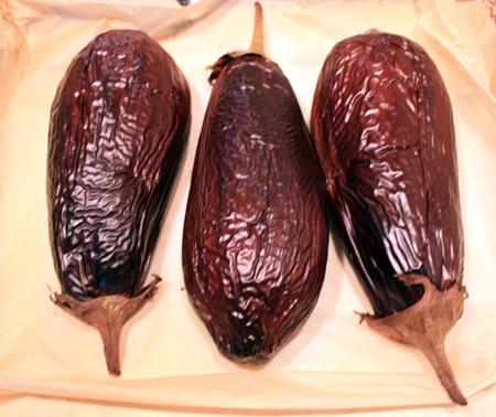 eggplants roasted