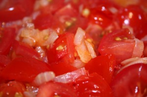 perico - tomatoes and onions.