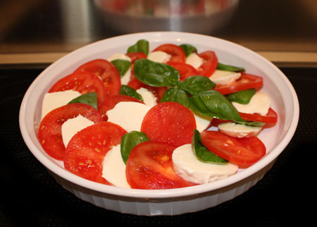 Tomato, Mozzarella & Basil Salad 1