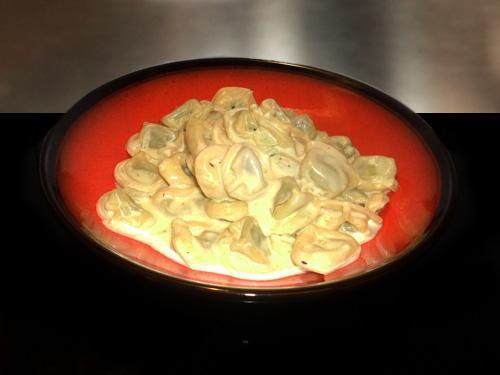 Tortellini with Saffron Sauce 1